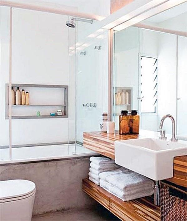 20 banheiros pequenos com banheira  Simples Decoracao  Simples Decoração -> Fotos De Banheiro Com Banheira De Canto