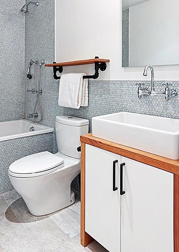 20 banheiros pequenos com banheira Simples Decoracao Simples Decoraç u00e3o # Decoração Banheiro Pequeno Com Banheira