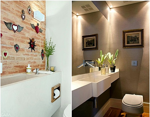 20 lavabos pequenos e estreitos simples decoracao - Altura de lavabo ...