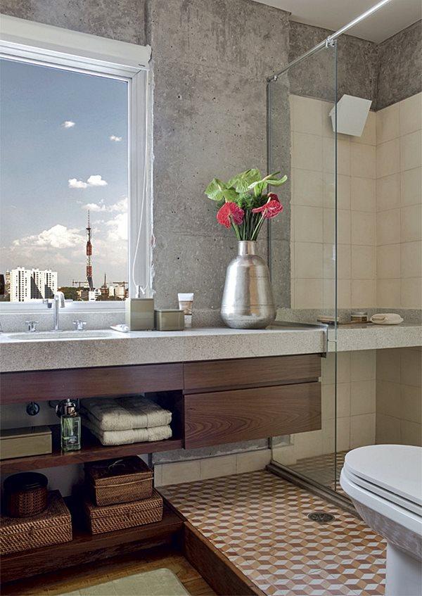 Banheiros  Combinando as cores dos revestimentos  Simples Decoracao  Simpl -> Banheiros Bem Simples