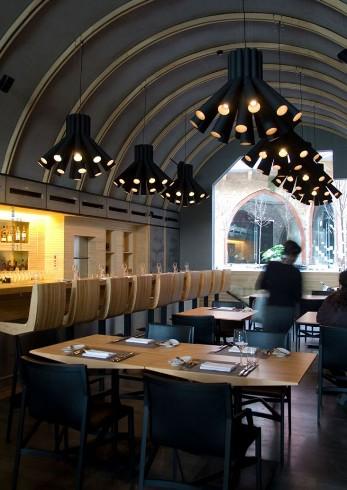 Burgundy Wine BarRestaurant Lighting by PSLABcontemporist