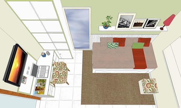 projeto quarto de hospede e office 2
