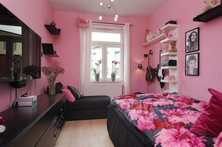 quarto adolescente rosa