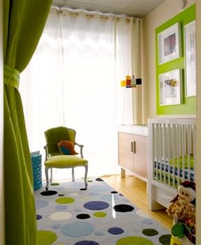 quarto bebê verde