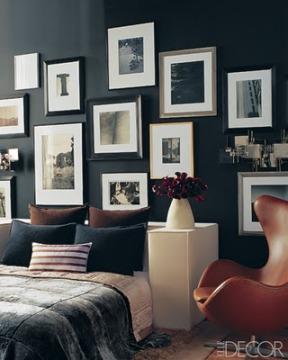 quarto parede preta quadro