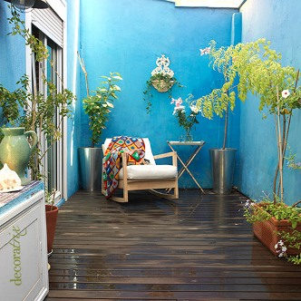 jardim varanda azul