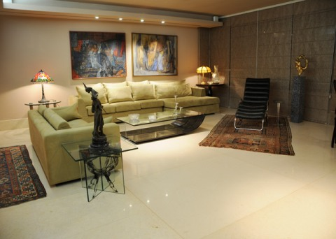 sala estar bege limestone