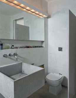 banheiro pequeno cimento simples decoracao