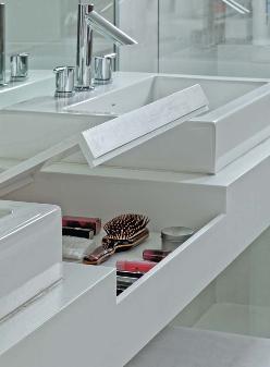 detalhe porta maquiagem banheiro