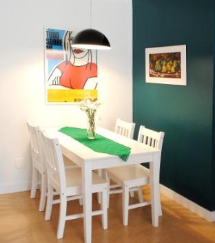 Sala de jantar-pequena-simples Decoracao