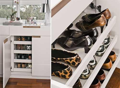 Onde colocar os sapatos ?