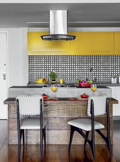 Misturando cores na cozinha