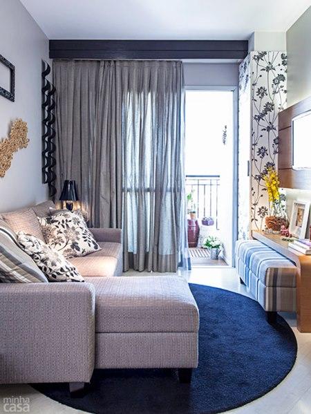 sala de estar tapete redondo