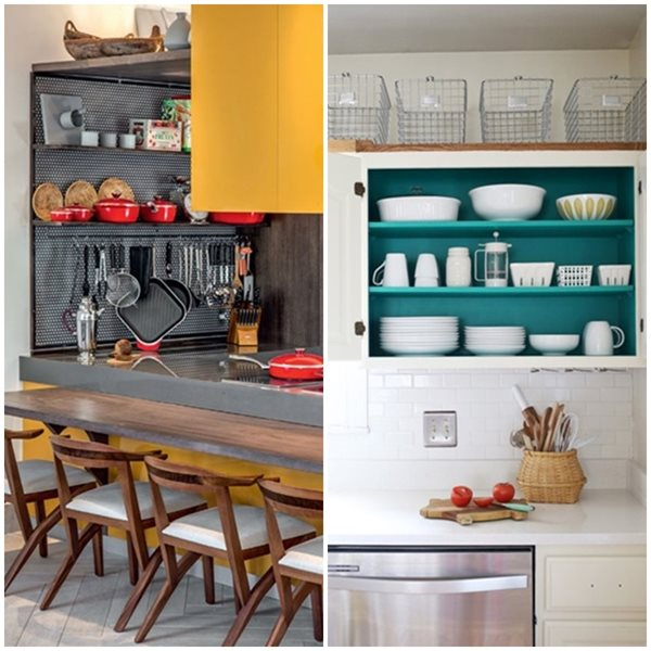 cozinha branca e cinza amarela