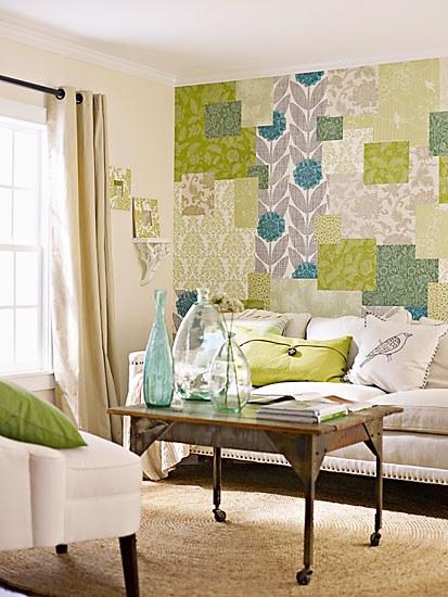 sala de estar papel de parede
