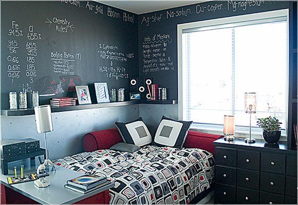decoração de quartos com paredes irregulares
