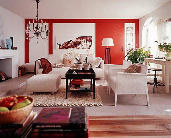 arquiteturadoimovelbranco-e-vermelho wohnen