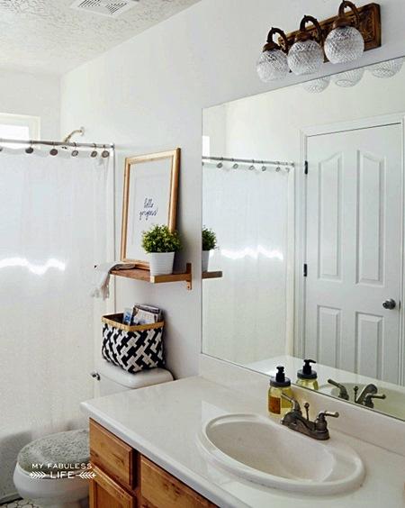 myfabulesslife white and brass bathroom