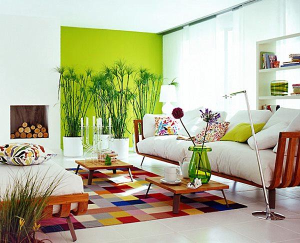 arrumadissimo parede-verde-na-sala-de-estar