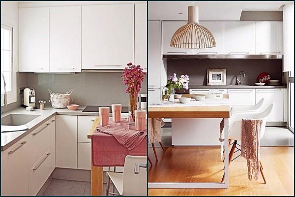cozinhas claras pequenas