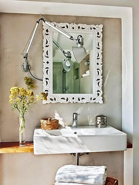 banheiro bege branco
