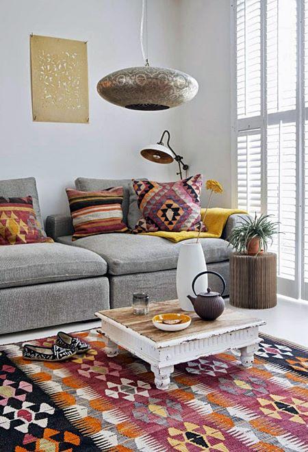 daramina living-room-kilim-boho