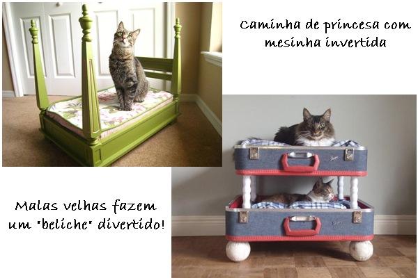 faça você mesmo camas para gatos
