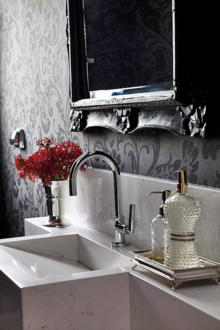 detalhe lavabo banheiro