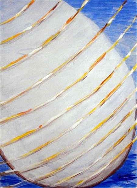 quadro acrílico em papel - Luz no copo