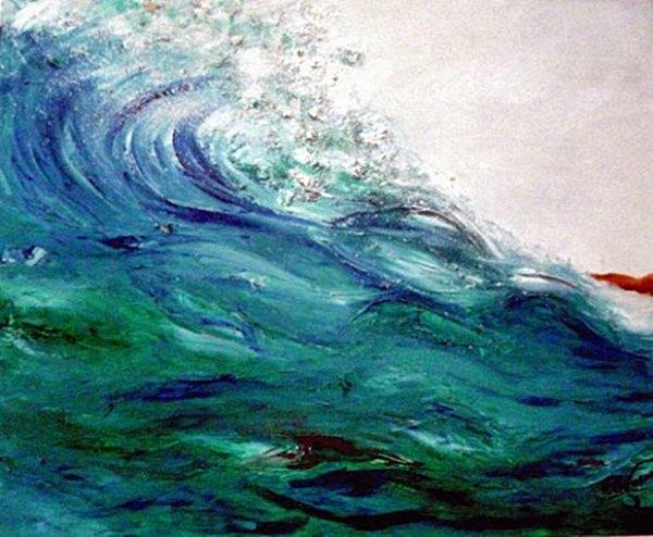 quadro acrílico sobre tela - onda