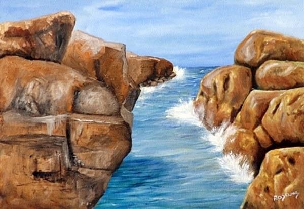 quadro óleo sobre tela -canal