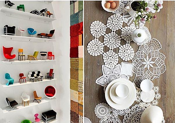 Faça você mesmo coleção mini cadeiras e croche