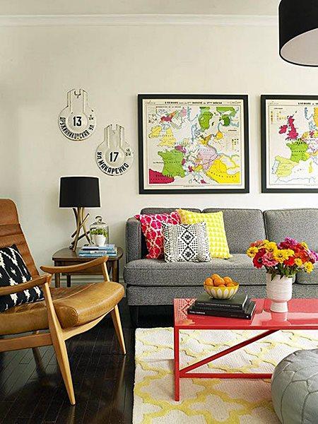 decoração para viajantes sala de estar