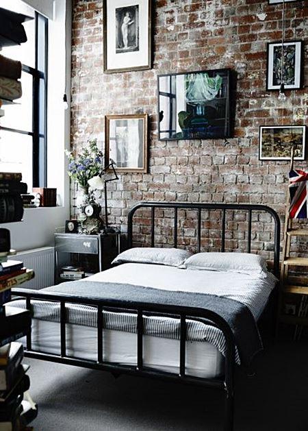 quarto estilo industrial vintage