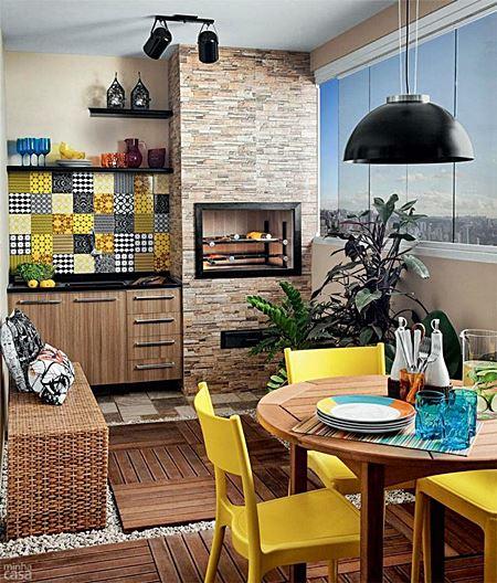 gourmet Decoração-para-Varanda-Gourmet-de-Apartamento-Pequeno-8
