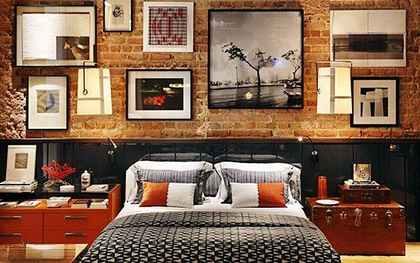 parede de tijolinho quarto