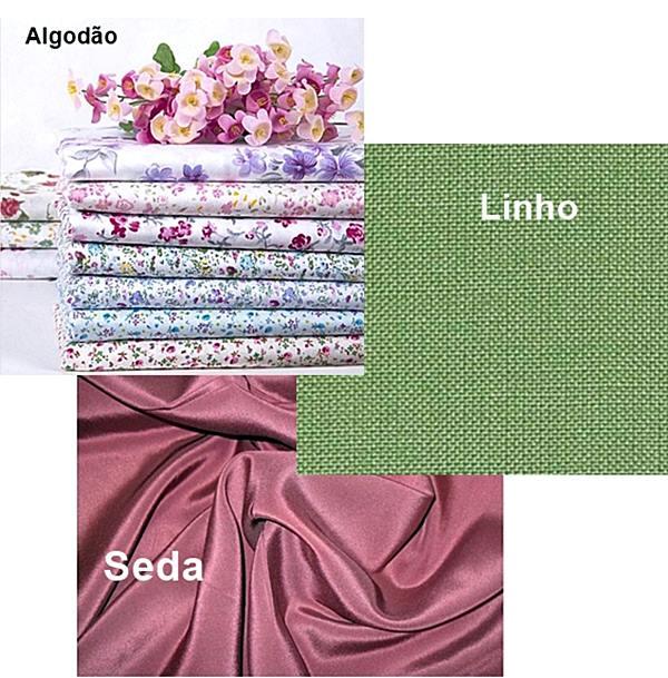 tecidos na decoração Linho algodão seda