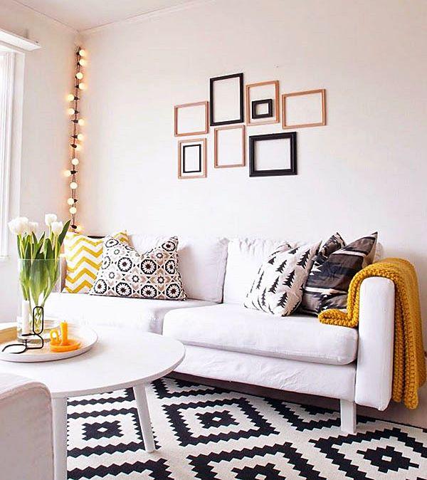 tapete colorido na sala