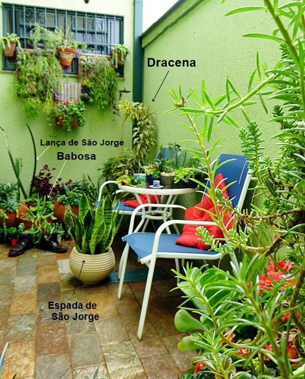 jardim em área pequena