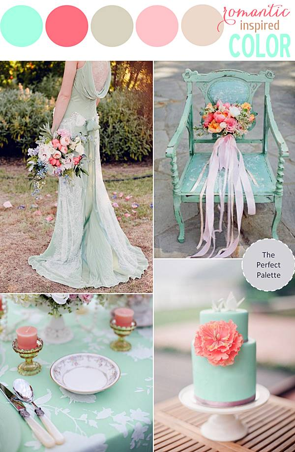 theperfectpalette mintpinkwedding