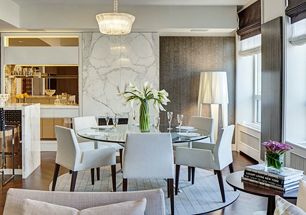 sala de jantar mesa redonda