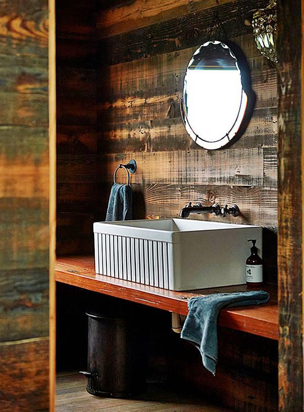 banheiro lavabo estilo industrial