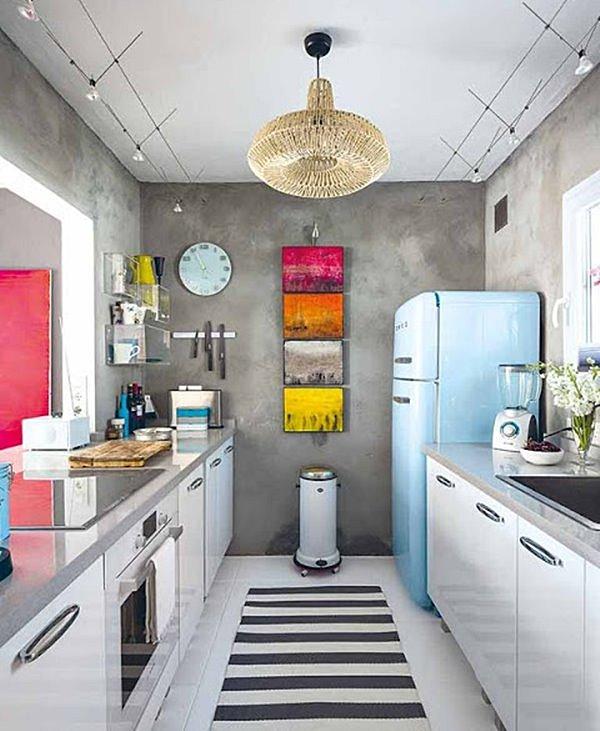 cozinha corredor pequena