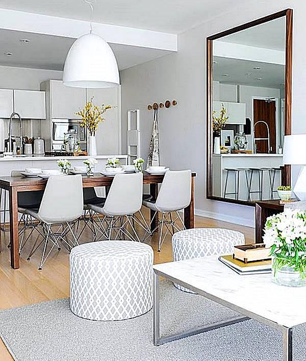 sala de estar jantar e cozinha