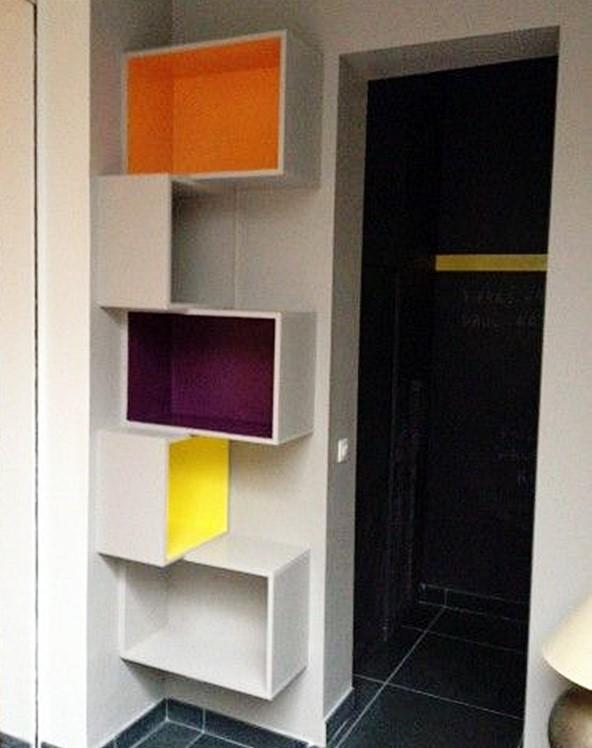 nichos em espaço pequeno