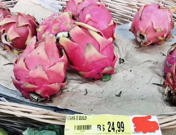 pitaya fruta preço