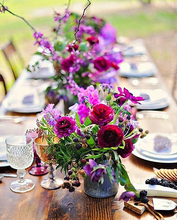 mesa de festa florida