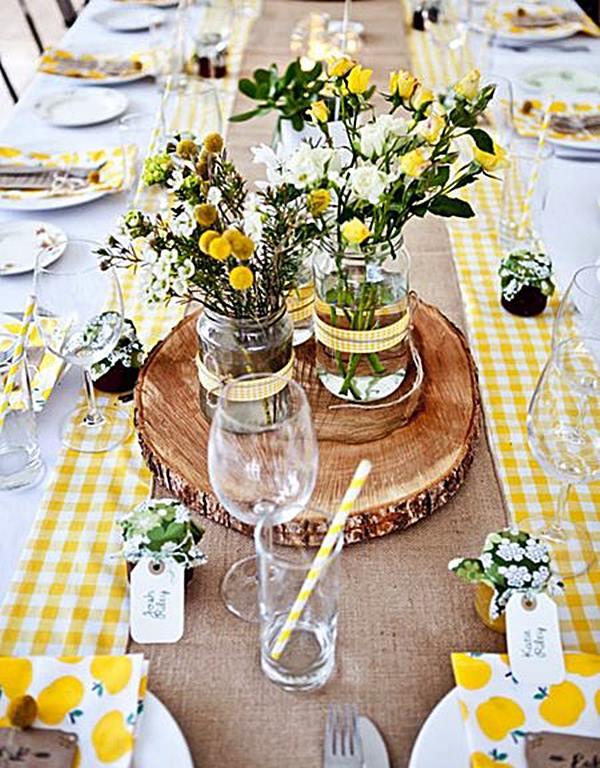 ideia para festa mesa amarela