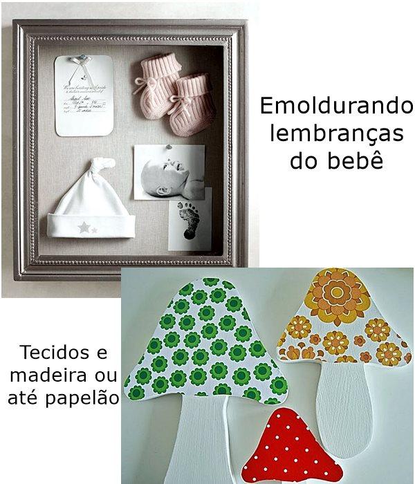 quadros com lembranças de bebê