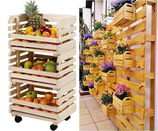 caixote de feira fruteira e jardim